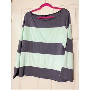 UO Out From Under Striped Terry Long-sleeve Top